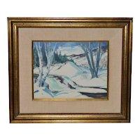 Lucille Hobbie (1915-2008) Winter Landscape c.1952