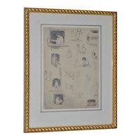 "Eugene Higgins (1874-1958) ""Family Life"" Sketches c.1920's"