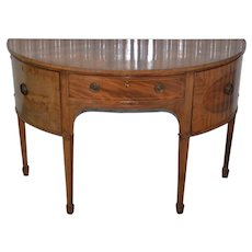 Early 19th Century Federal Bow Front Sideboard