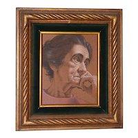 Vasileos Kapousouz (Greek, b.1912-1985) Portrait of Woman c.1971