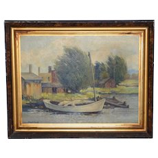 Vintage Impressionist Oil Painting by Phil Cook c.1930s