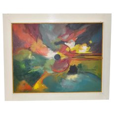 Mid Century Modern Abstract by Montegon c.1970s