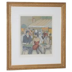 "Isaac Maimon ""Cafe Michel"" Original Serigraph Signed / Numbered"