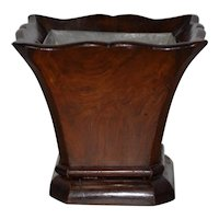 19th Century Hand Carved Walnut Plant Holder