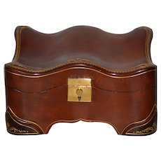 Vintage Embossed Leather Jewelry Box