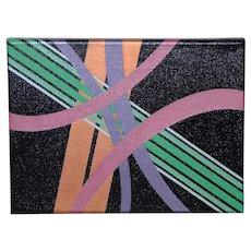 Charles Hersey Vintage Modernist Op-Art Painting c.1971