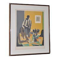 Marcel Mouly (1918-2008) Vintage Lithograph Signed / Numbered c.1980s
