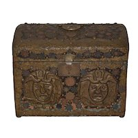 Vintage Copper Folk Art Box c.1940s
