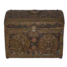Vintage Copper Folk Art Box c.1940s