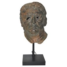 Fine 19th Century Bronze Head after Greek Antiquities