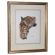 "Rosalia Demonte ""Jaguar"" Original Gouache on Paper c.1987"
