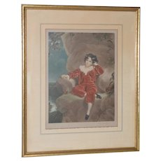 E. Wardle, (19th century), Red Velvet Cupcake Color Lithograph Signed