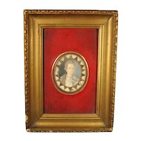 18th Century Portrait Miniature Memento of a Handsome Young Man c.1780