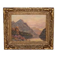 Thomas C. Blake Mountain Landscape Oil Painting c.1920