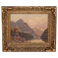 Thomas C. Blake Mountain Landscape Oil Painting c.1920