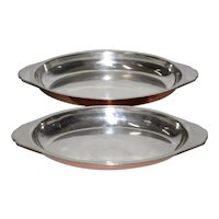 Joseph Heinrichs, New York - Pure Copper & Sterling Silver Platters