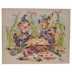 "Art Riley (1911-1998) Original Cartoon ""Checkers"" c.1960s"