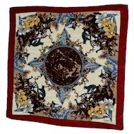 """Hermes Silk Scarf """"Jungle Cats"""" Made in Italy"""
