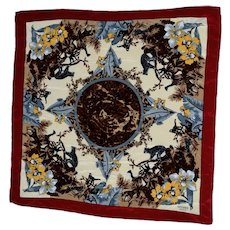 "Hermes Silk Scarf ""Jungle Cats"" Made in Italy"
