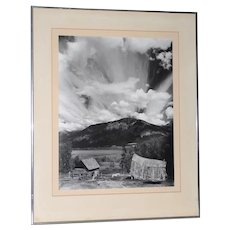 "Robert Werling ""Thunderstorm "" Black & White Silver Gelatin Photograph c.1970s"