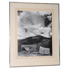"Robert Werling ""Thunderstorm "" Black & White Silver Gelatin Photograph c.1970s"