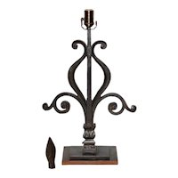 Early 19th Century Wrought Iron Balustrade Converted to Table Lamp