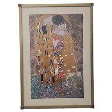 """Gustav Klimt """"The Kiss"""" Vintage Framed Print"""