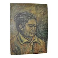 Vintage Oil Portrait Bearing Signature Orozco