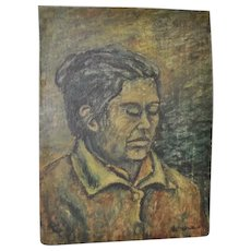 Vintage Oil Portrait Bearing Signature Orozco