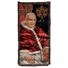 Vintage Pope Paul VI Tapestry From Italy c.1965