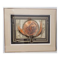 "J.B. Thompson ""Photon"" Mixed Media Etching w/ Copper and Aquatint Limited Edition"