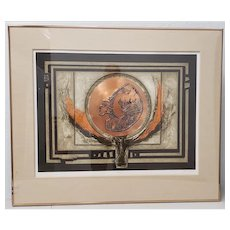 """J.B. Thompson """"Photon"""" Mixed Media Etching w/ Copper and Aquatint Limited Edition"""
