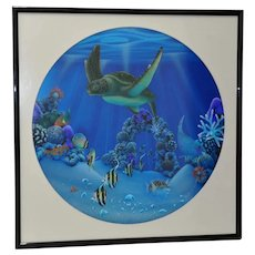 "Dale Zarrella ""Underwater Reflections, Hawaii"" Original Lithograph c.1997"