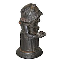 Rare Mid 19th Century Cast Iron Match Holder by Zimmerman of Hanau, Germany c.1850