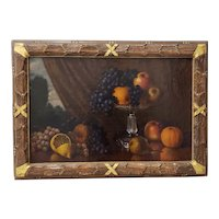 Late 19th Century Still Life Realism Oil Painting