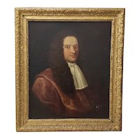 18th to 19th c. Old Welsch Oil Portrait Peter Foulkes of Denbigh, Wales