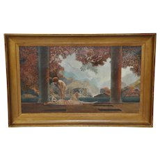 """Daybreak"" Original 20th Century Oil Painting after Parrish"