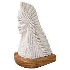 Adam Fortunate Eagle (Native American, b.1929) Marble Sculpture