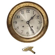 Vintage Marine Brass Cased Clock by Chelsea Clock Company