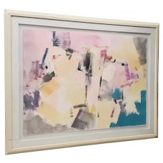 Jack Roberts (American, 20th c.) Large Scale Acrylic Abstract Painting