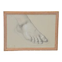 Vintage Study of Right Foot  c.1960s