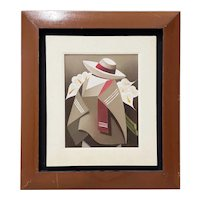 "Vintage Latin Oil Painting ""Armful of Calla Lilies"" c.1970s"
