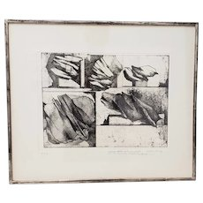 1963 Gio Pomodoro Pencil Signed Etching