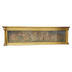 Late 19th c. Classical Lithograph Housed in Carved & Gilded Overmantel Frame