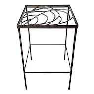 Hand Wrought & Welded Metal Side Table