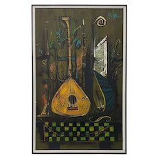 Large Scale Mid 20th Century Acrylic Painting by Vanguard Studios Signed Van Gaard