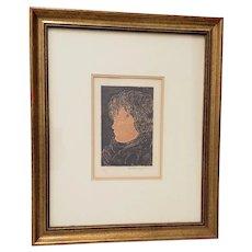 """Beniamino Benvenuto Bufano (1898-1970) """"Tete d' Infant"""" Lithograph c.1970"""