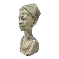 Marble Sculpture of a Young African Woman by Kakweza