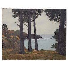 Horatio Nelson Poole (California, 1884-1949) Monterey Coast Landscape c.1934