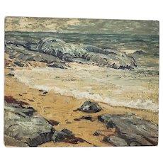 Elliot Torrey (1867-1949) Coastal Landscape Oil Painting c.1920s
